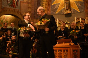 With Jan-Geert Heuvelman and the Vocaal Ensemble Rijssen, Dionysius Church Rijssen, October 6, 2018
